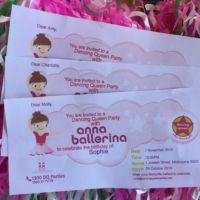 Kids Party Balley Invitations