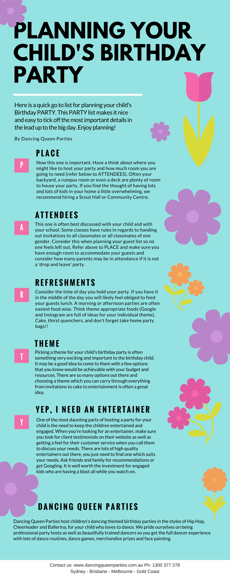 Party Planning infographic